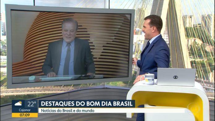 Chico Pinheiro e Rodrigo Bocardi no Bom Dia SP (Reprodução/TV Globo)