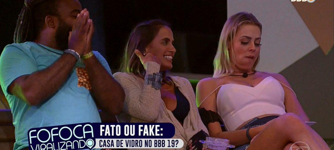 BBB19 faz homenagem ao Fofocalizando, do SBT (Reprodução/TV Globo)