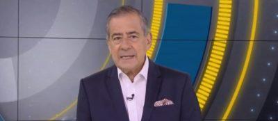 Paulo Henrique Amorim durante o Domingo Espetacular, da Record (Reprodução)