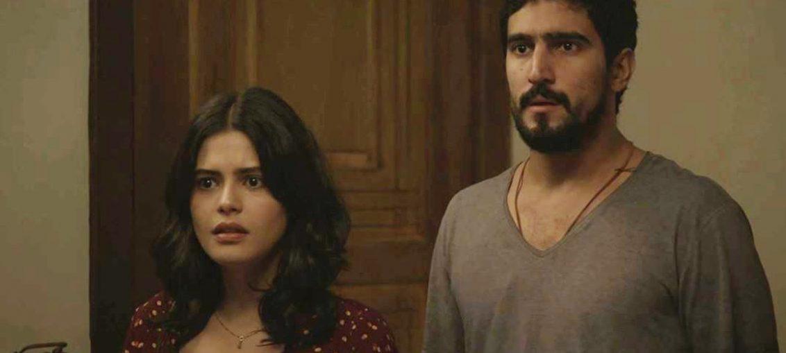 Laila (Julia Dalavia) e Jamil (Renato Góes) em Órfãos da Terra (Divulgação / TV Globo)