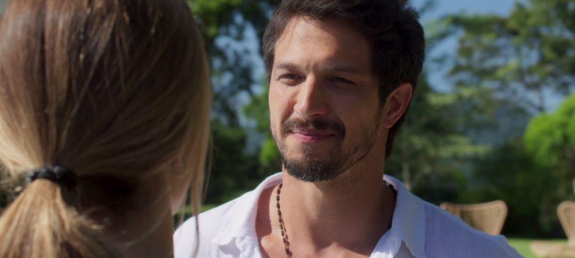 Marcos (Rômulo Estrela) e Paloma (Grazi Massafera) em Bom Sucesso (Divulgação / TV Globo)