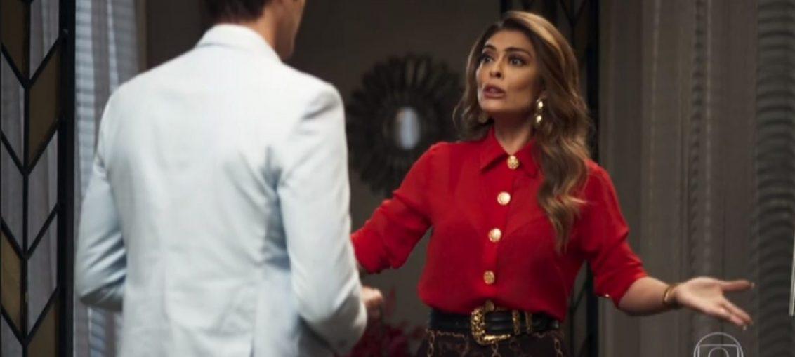 Régis (Reynaldo Gianecchini) e Maria da Paz (Juliana Paes) em A Dona do Pedaço (Reprodução / TV Globo)