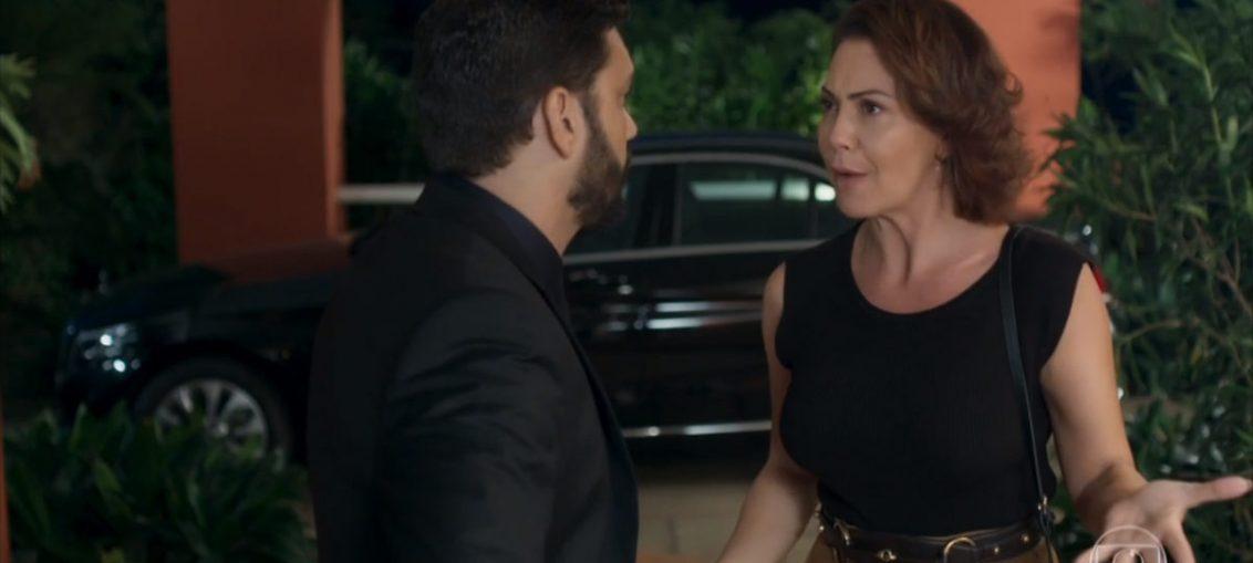 Diogo (Armando Babaioff) e Nana (Fabíula Nascimento) em Bom Sucesso (Reprodução / TV Globo)