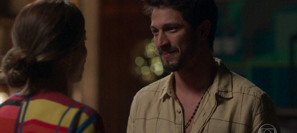 Paloma (Grazi Massafera) e Marcos (Rômulo Estrela) em Bom Sucesso (Reprodução / TV Globo)