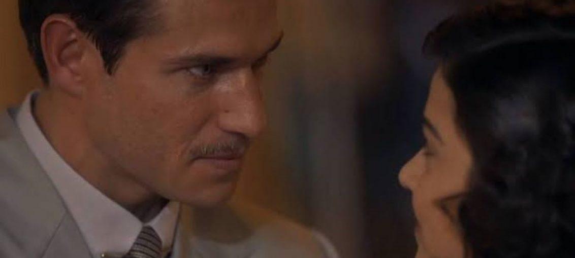 Felício (Paulo Rocha) e Isabel (Giullia Buscácio) em Éramos Seis (Reprodução / TV Globo)