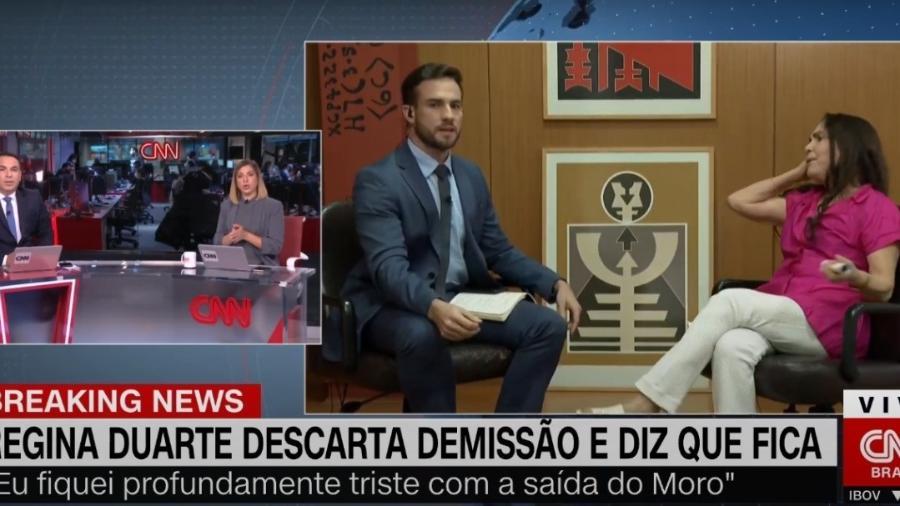 Regina Duarte dá chilique em entrevista na CNN