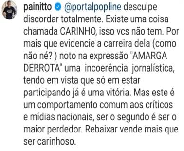 """Anitta detona Portal POPline após ataque desonesto: """"amarga derrota"""""""