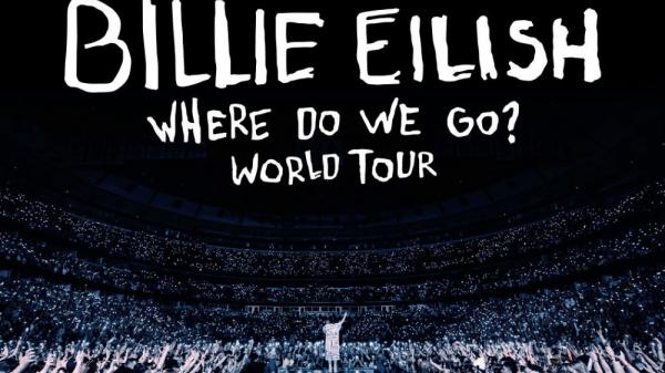 """Billie Eilish para cartaz de turnê """"Where Do We Go"""""""