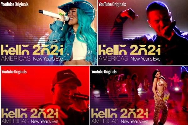 """Dua Lipa, Karol G, J Balvin e Kane Brown performam no especial de fim de ano """"Hello 2021: Americas"""""""