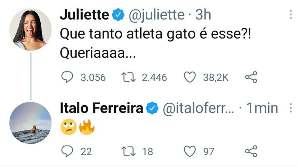 talo Ferreira diz que quer conhecer Juliette