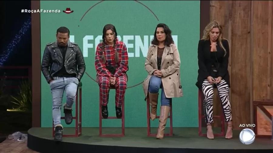 Nego do Borel, Liziane, Solange e Erika estão na primeira roça