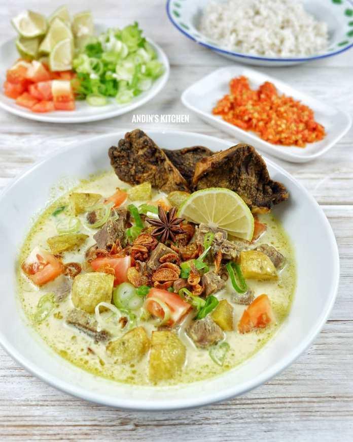 Info kuliner SOTO BETAWI SUSU RESEP ANDIN baca dulu baru