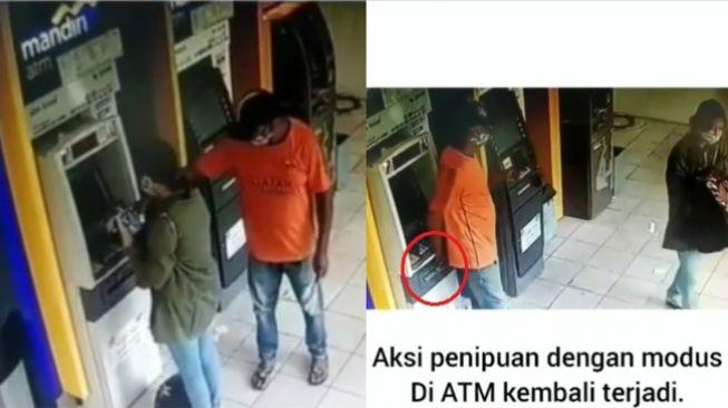 Viral Aksi Penipuan ATM Terekam CCTV, Rp 1 Juta Raib Dihadapan Korban (Instagram)