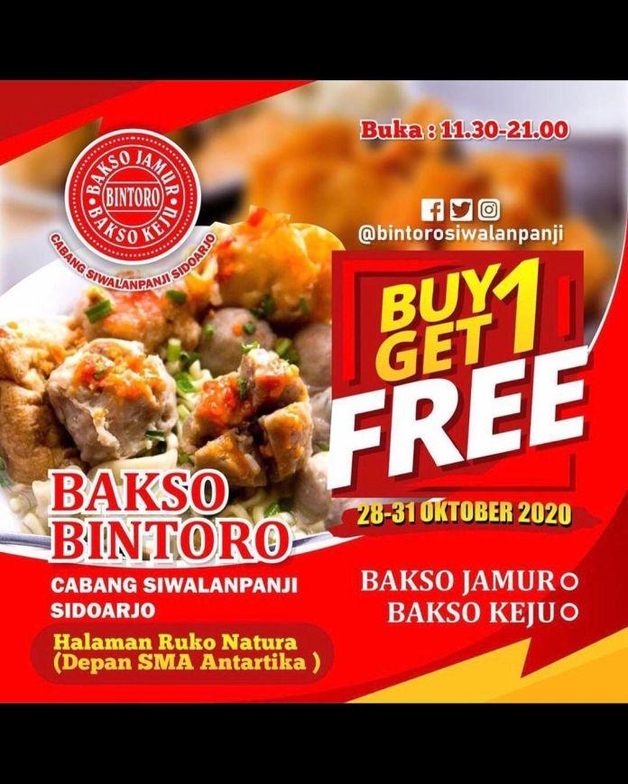 1603870409 259 BARU BAKSO BINTORO BUKA DI SIDOARJO BUY 1 GET 1