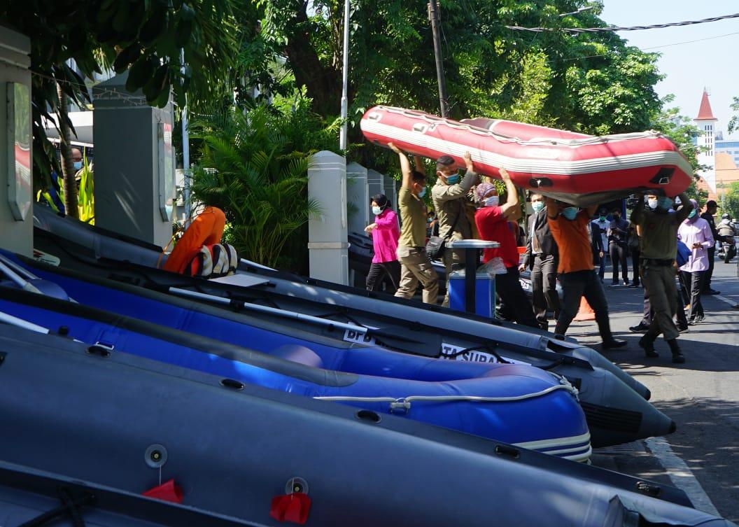 BPB Linmas Siapkan Mitigasi Bencana di Wilayah Aliran Sungai Surabaya