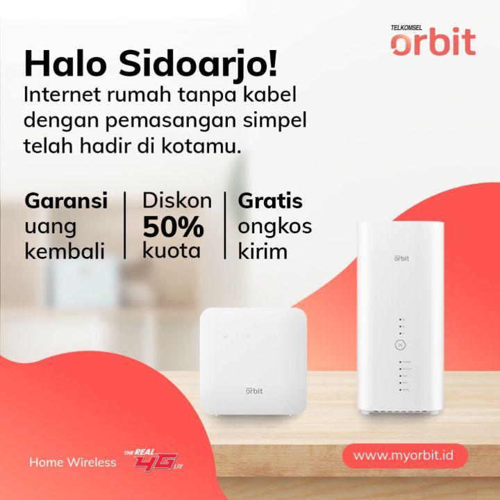 Buat warga Sidoarjo dan sekitarnya yang rumahnya belum masuk jangkauan kabel internet fiber, te...