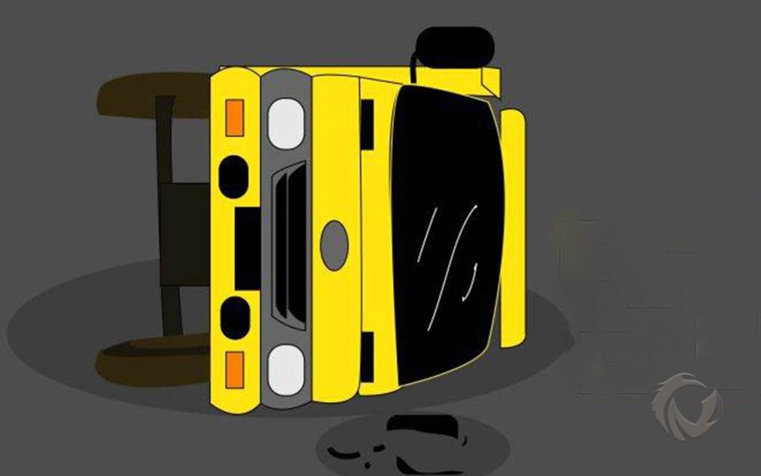 ilustrasi truk ngguling