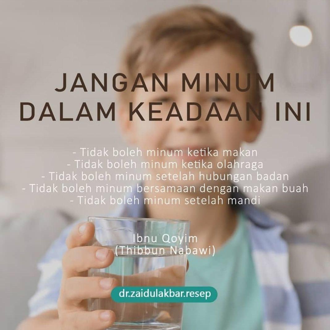 Info sehat, Kalau seandainya setelah makan merasa haus atau tersedak maka minum, dengan alasan haus. kalau …