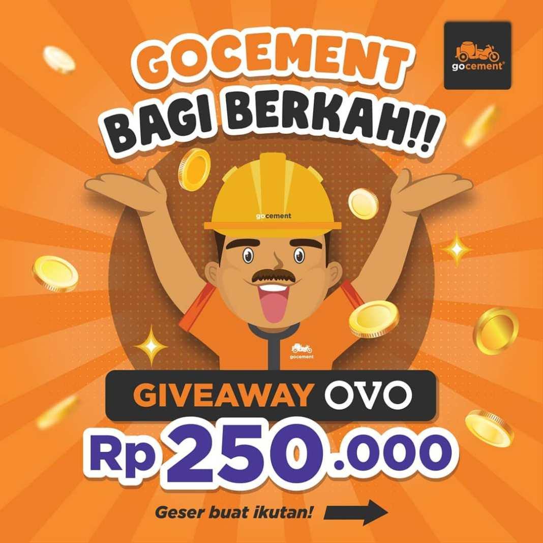 GoCement bagi-bagi Ovo Cash senilai 250.000 nih Lur!  Baca cara ikutannya dengan teliti ya! 1. …