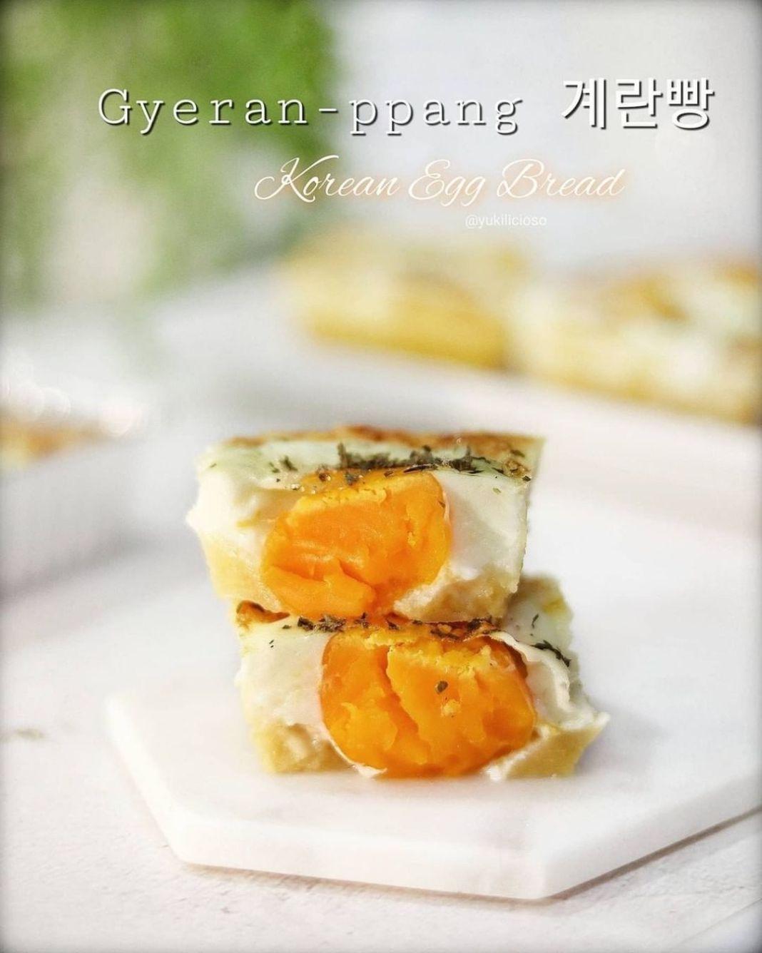 Info kuliner, Resep korean egg bread ala korea korea nih, cobain deh di rumah!  Korean Egg Bread (Gyeren-ppan…