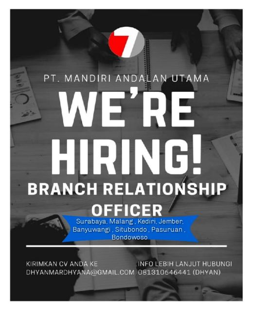 Dibutuhkan Branch Relationship Officer untuk PT Mandiri Andalan Utama Penempatan