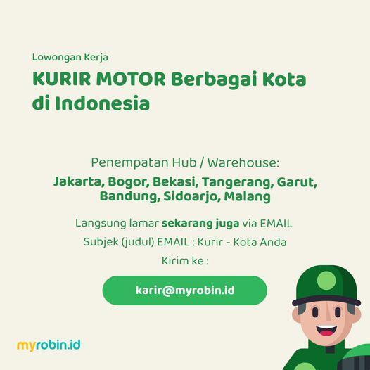 Lowongan Kerja Kurir Penempatan Jakarta Bogor Bekasi Tangerang Garut Bandung