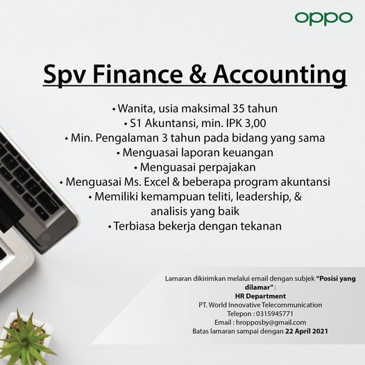 This job will be placed in Surabaya If youre interested