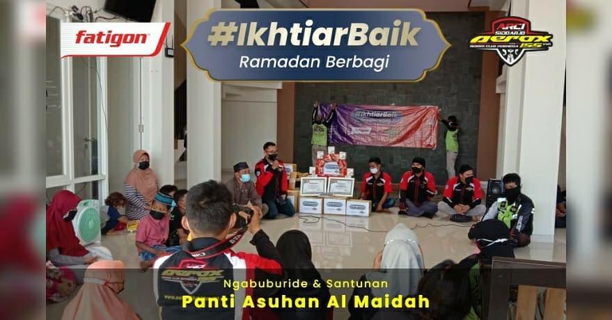 Berkah Ramadhan,@Fatigon_id berkolaborasi bersama komunitas ARCI Sidoarjo (Aerox Riders Club In…