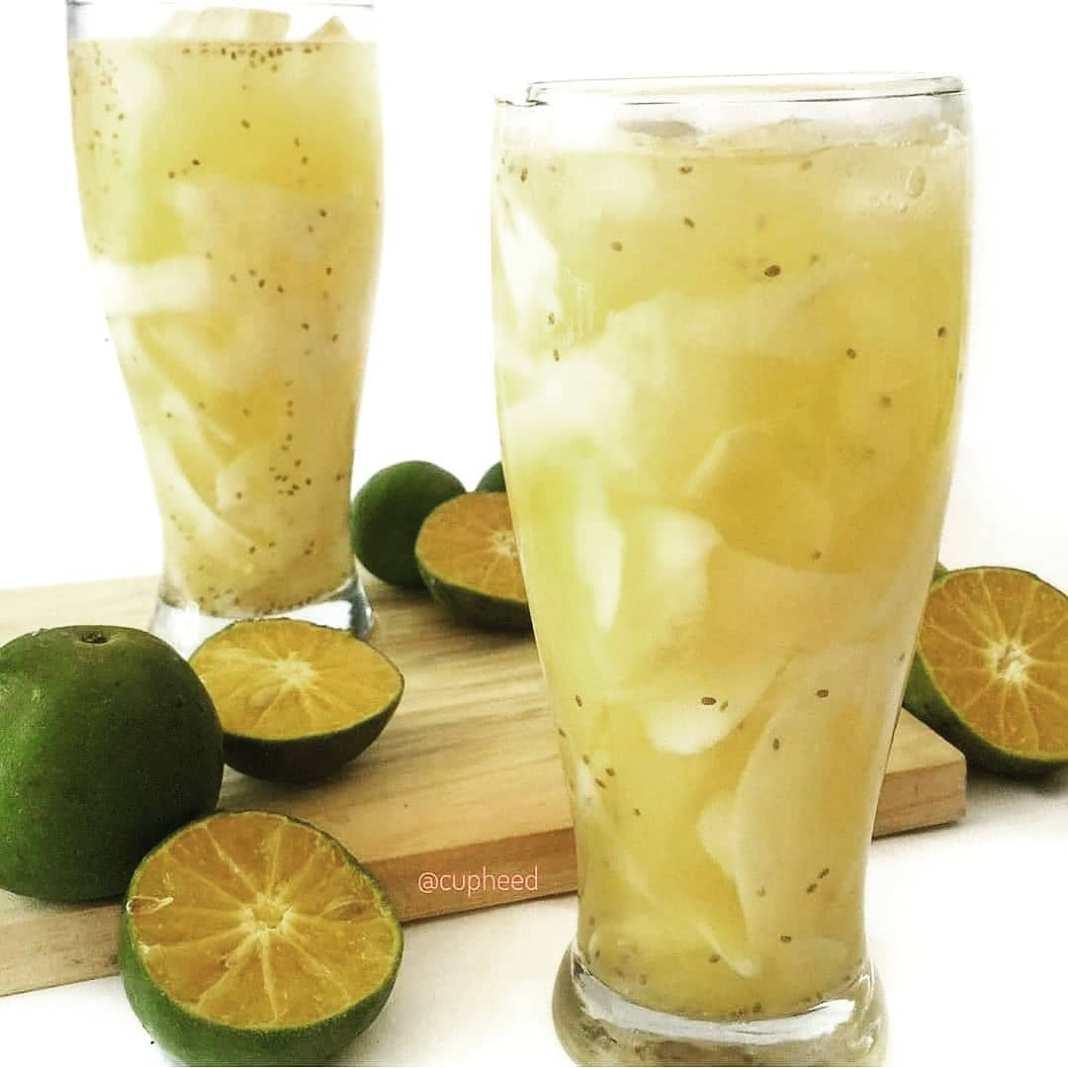 Info sehat, Recovery Energi Setelah Sehari Puasa . Minum air kelapa muda + jeruk + chiaseed Nyege…