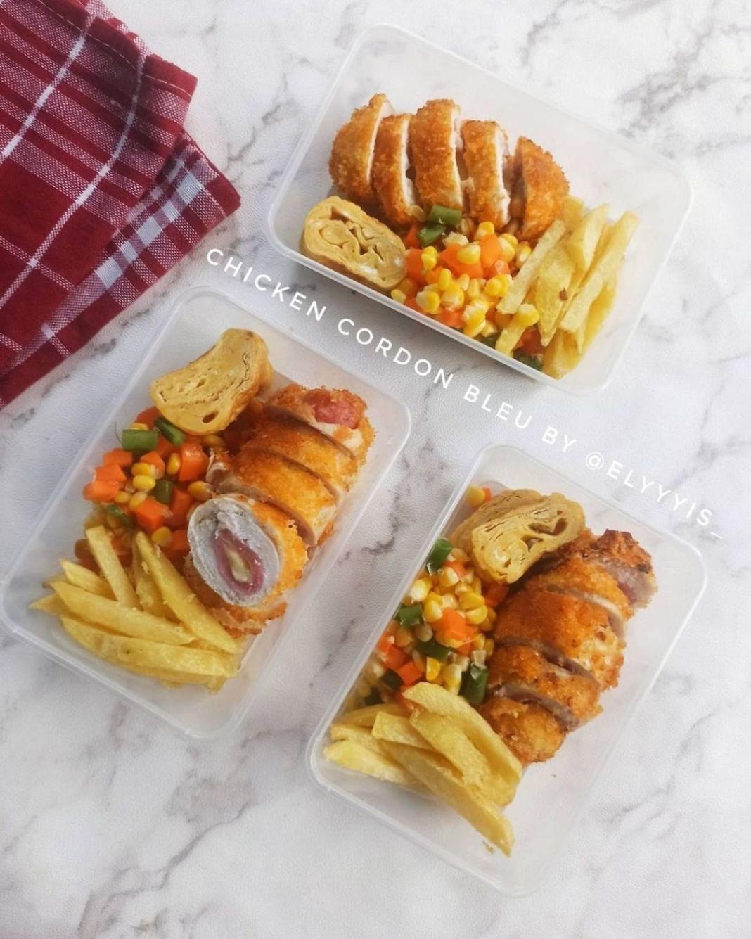 Info kuliner, Chicken Cordon Bleu  Tambah mixed veggies serta kentang makin lengkap nih!  Bahan :  1 dada ayam …