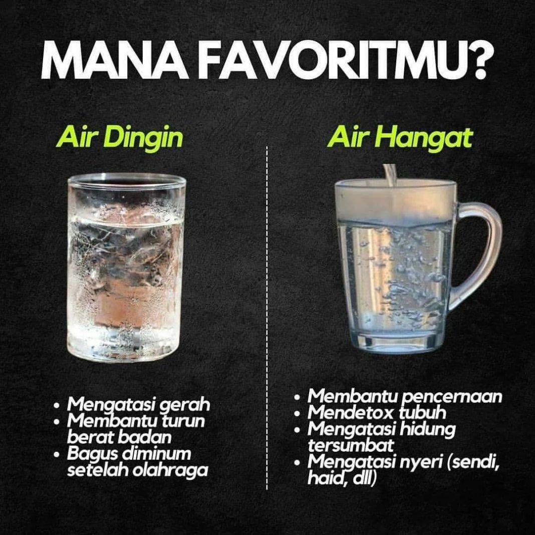 Info sehat,   Kamu tim air hangat atau air dingin?   Ketik di kolom komen  …