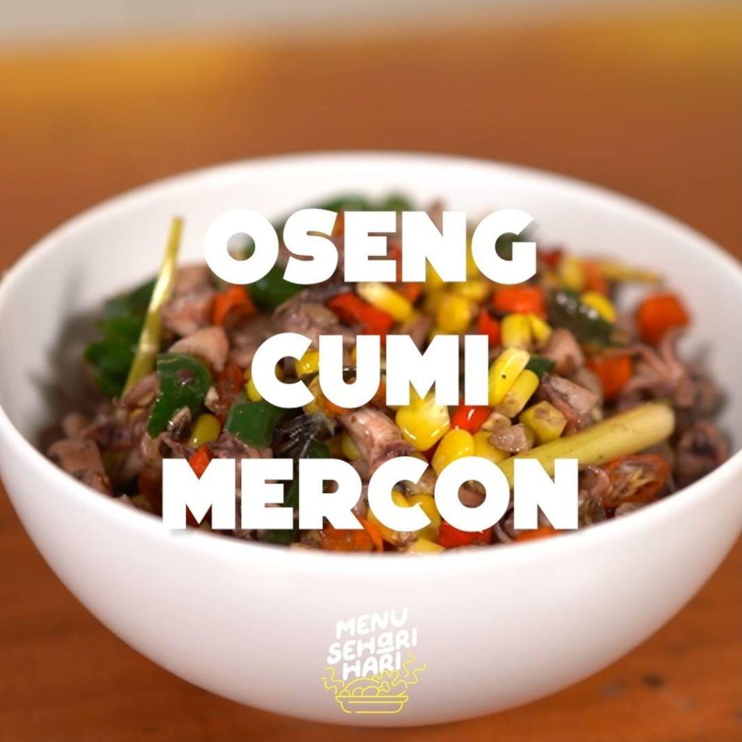Info kuliner, Oseng Cumi Mercon Oseng Cumi Mercon yang pedes nya bikin mau nambah nasi lagi serta lagi  Bahan-B…