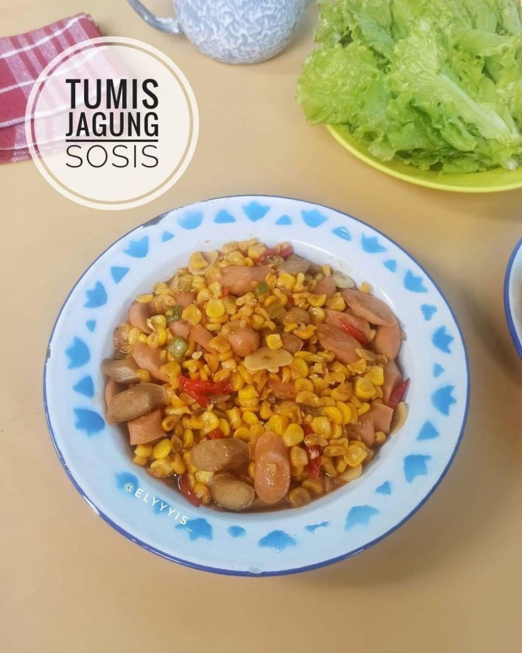 Info kuliner, Tumis Jagung & Sosis  Bahan : 1 jagung pipil 4 sosis iris 4 bawang merah iris 3 bawang putih ir…