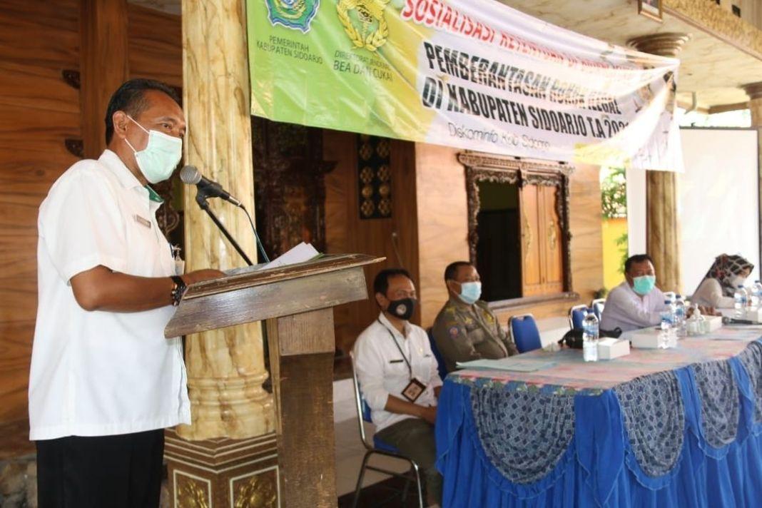 Sosialisasi Ketentuan Di Bidang Cukaike Tiga di Gelar di Desa Kemuning Kecamatan Tarik Kominfo,…