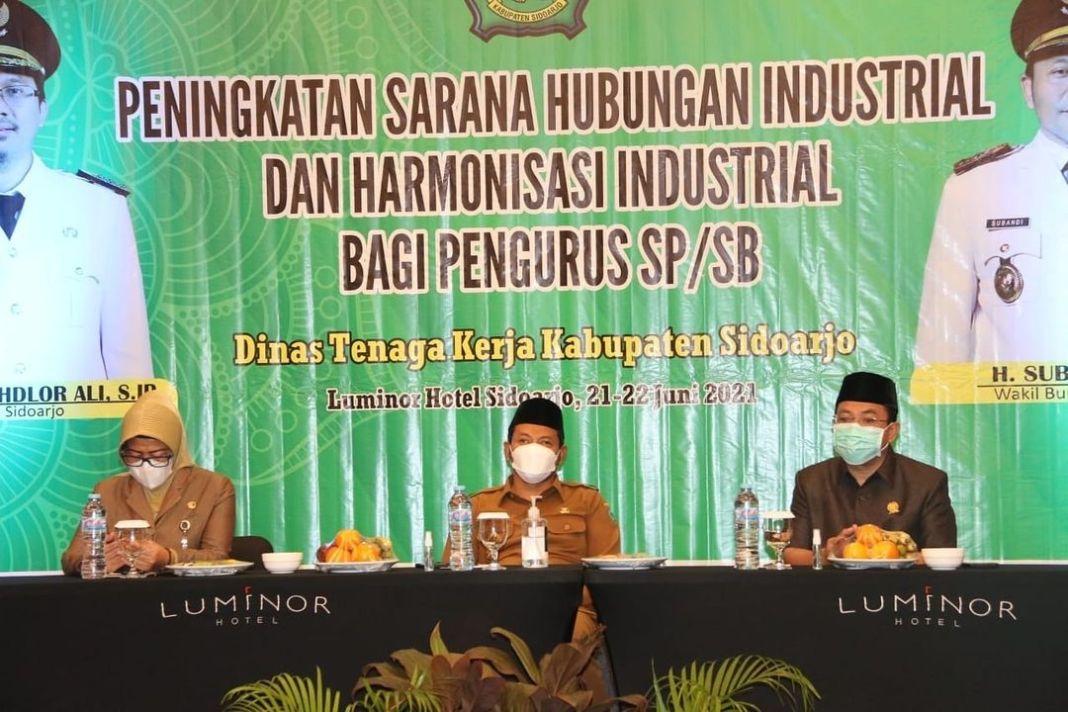 Wabup Subandi minta Harmonisasi Industrial dengan Pengurus Serikat Pekerja/Serikat Buruh Ber…