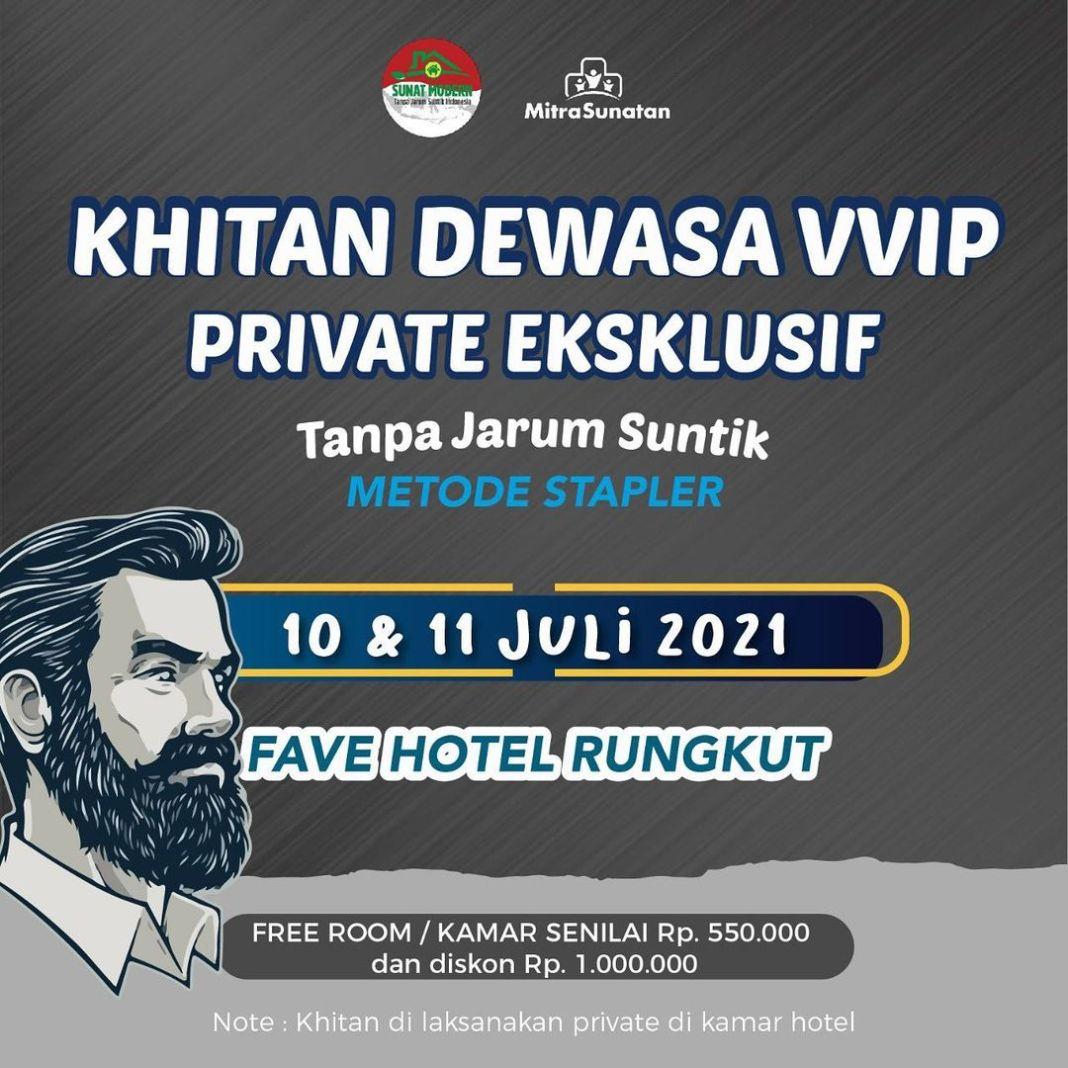 Hai . Mitra sunatan ada event baru ini.. Private Khitan Dewasa VVIP di Fave Hotel Rungkut Surab…