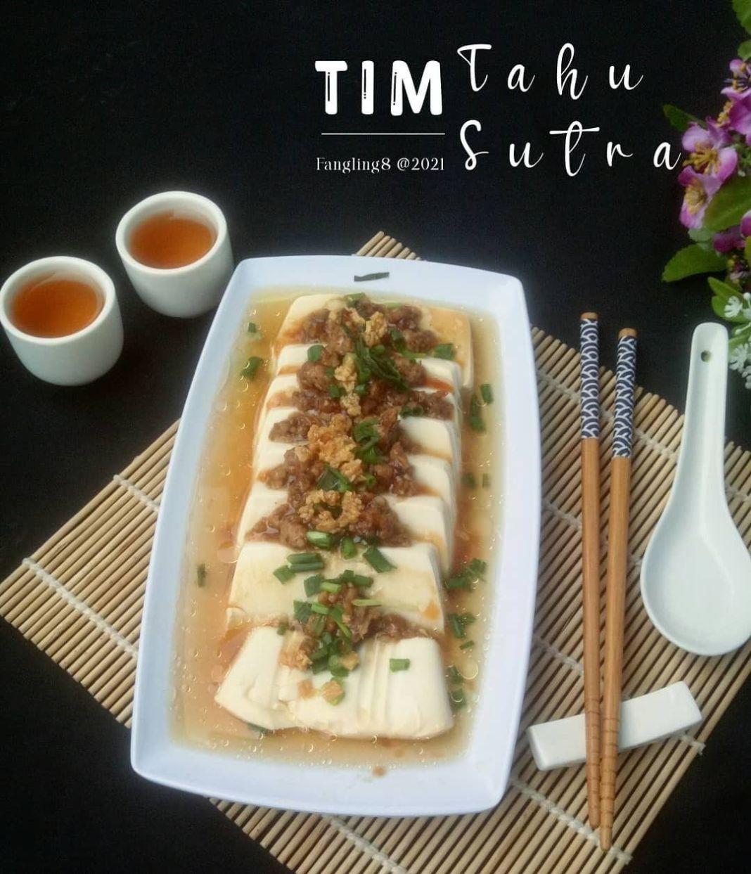Info kuliner, TIM TAHU SUTRA Source : eunice_euston Recook : @fangling8 .. Bahan : – 1kotak tahu sutra – bumb…