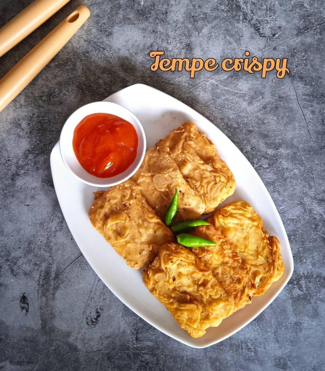 Info kuliner, Tempe Crispy   simpel praktis untuk yg keburu laper hehe  Cara buatnya gampang Potong tempe Mas…