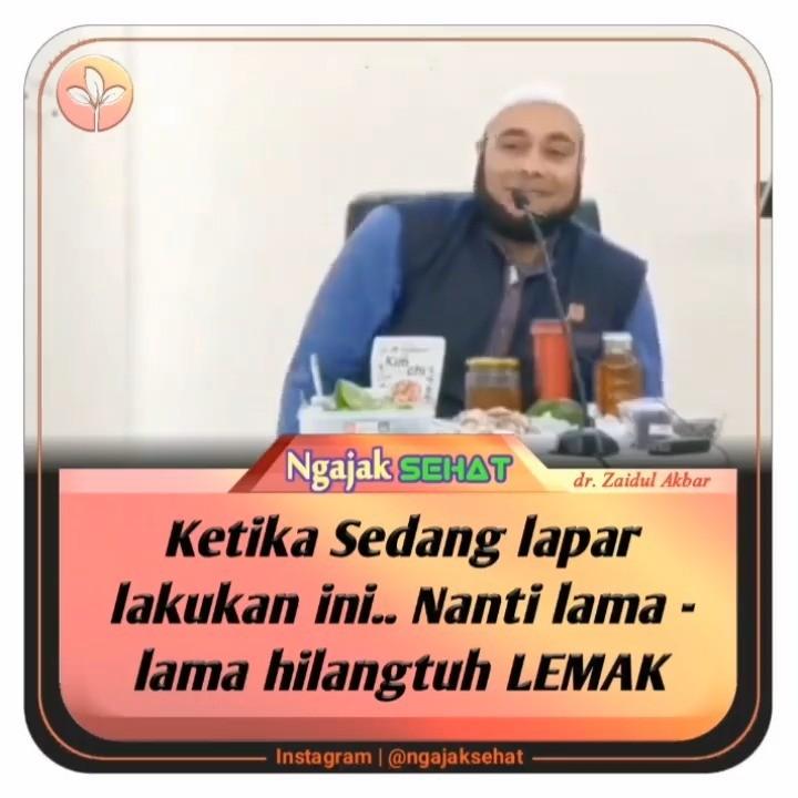 Info sehat, Ketika sedang lapar lakukan ini … Nanti lama2 hilangtuh lemak . .  @zaidulakbar hafizahul…