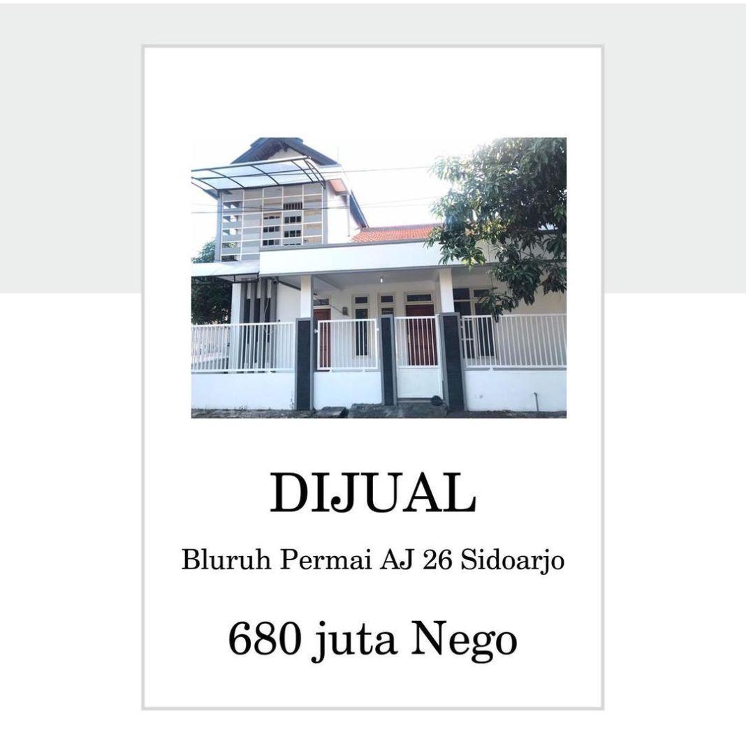 DIJUAL RUMAH   Lokasi : Bluruh Permai AJ 26 Sidoarjo  detail dapat di slide harga nego  dapat hub…