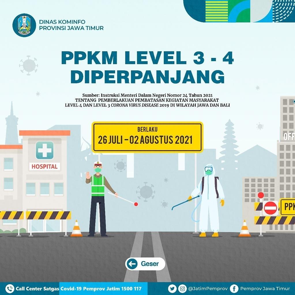 PPKM darurat Jawa-Bali diperpanjang hingga 02 Agustus 2021.  Hal ini dilakukan untuk menekan lo…