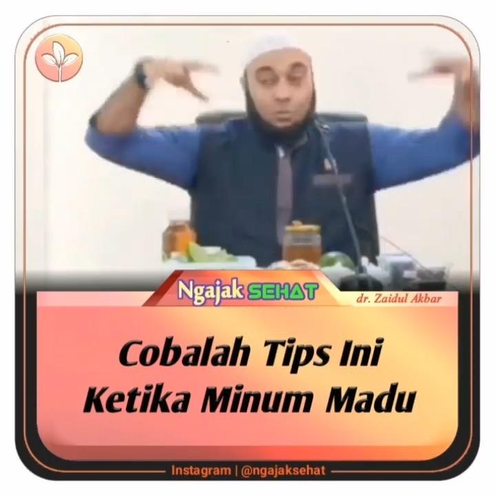 Info sehat, Cobalah Tips Ini ketika minum madu . . .  @zaidulakbar hafizahullah   masjidashshaff . Fr…