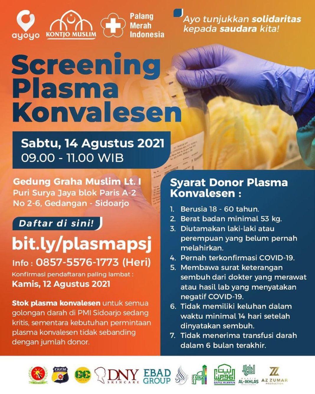 Kali ini Ayoyo Indonesia bekerjasama dengan PMI sidoarjo untuk donor plasma konvalesen.  Ayo Ga…