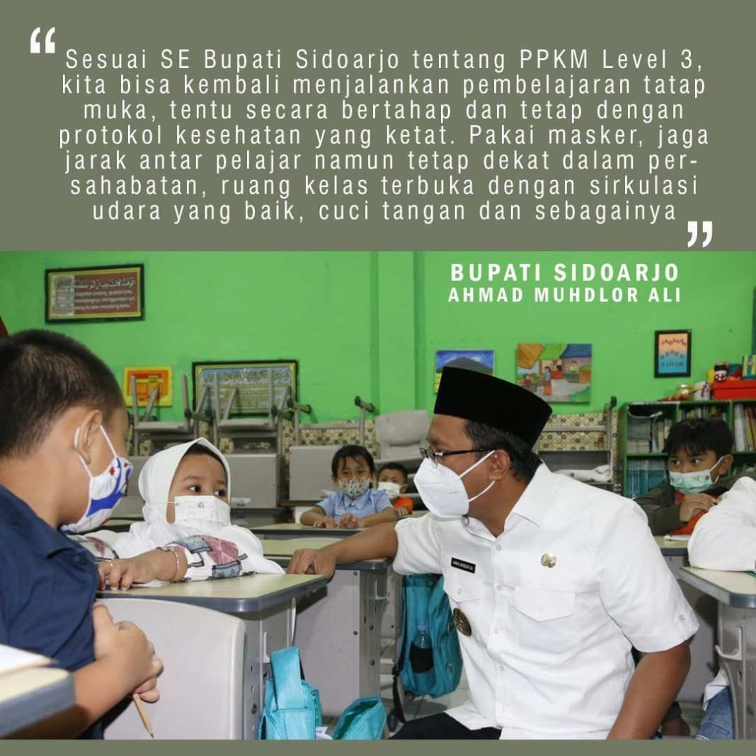 Secara bertahap, sekolah-sekolah sudah kembali dibuka. Jangan lupa tetap patuhi 5M, memakai mas…