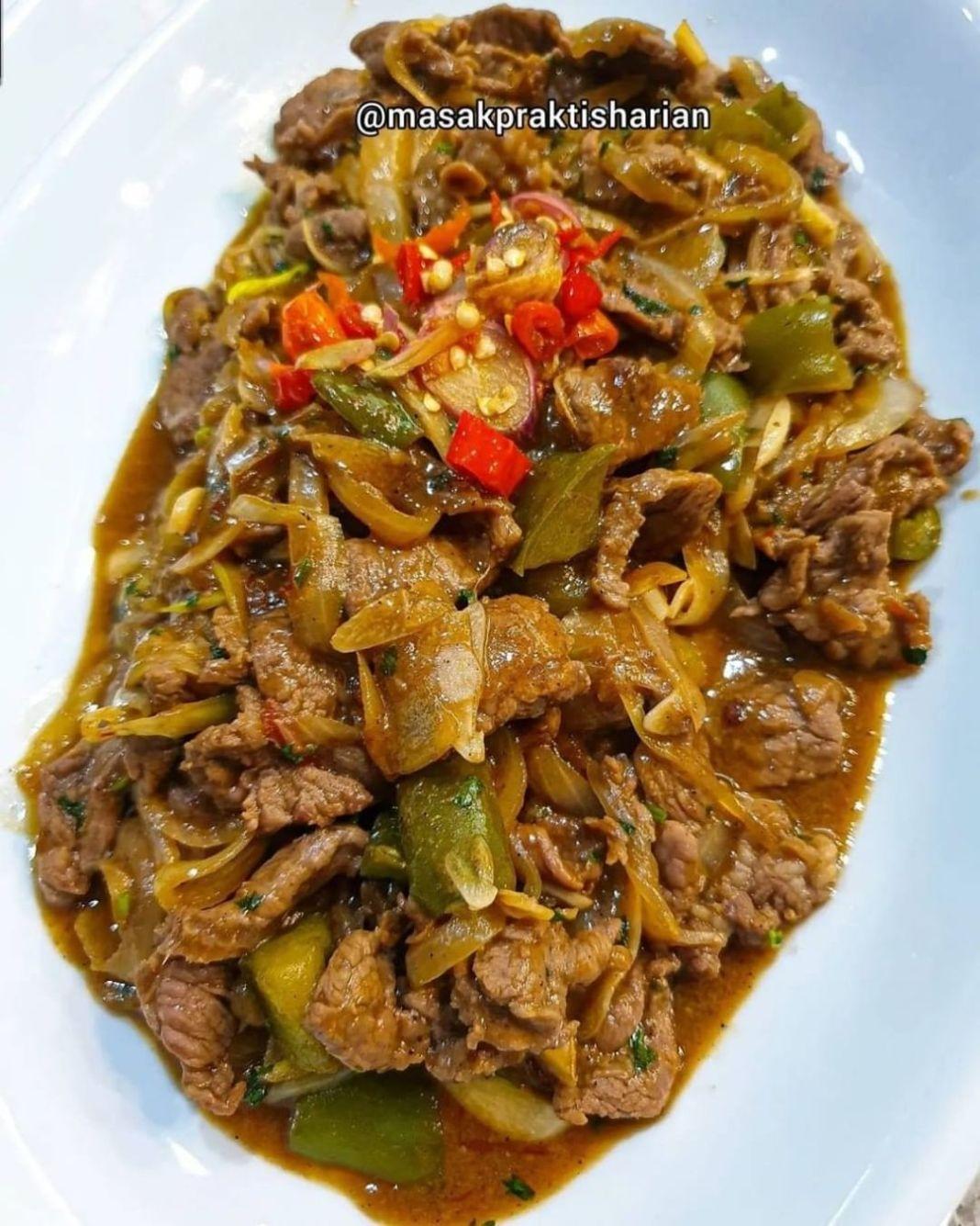Info kuliner, YUKKKK dicoba resep kali iniii! dijamin enduuulll . Sapi lada hitam  Made By: @masakpraktishari…