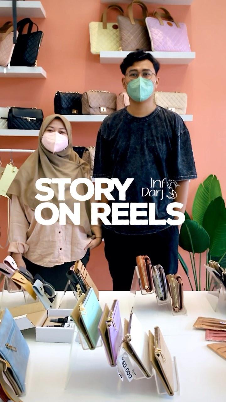 #STORYONREELS Kali iki sosok inspiratif pendiri brand tas @flickabags (agung&putri)  pasangan s…