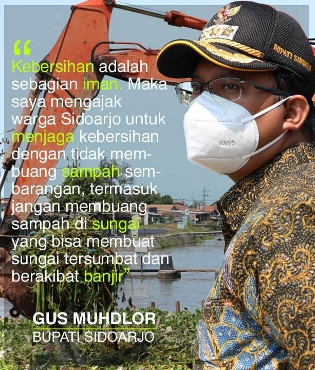 Pesan Gus Muhdlor supaya kita semua jaga kebersihan sungai dengan tidak membuang sampah sembar…