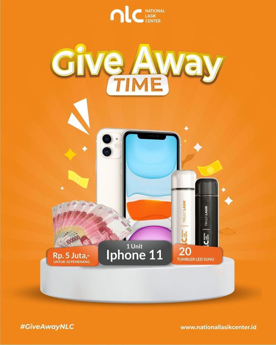 GIVEAWAY  1 iPHONE 11, UANG TUNAI 5 JUTA untuk 10 PEMENANG, & 20 TUMBLER LED SUHU  Giveaway Tim…