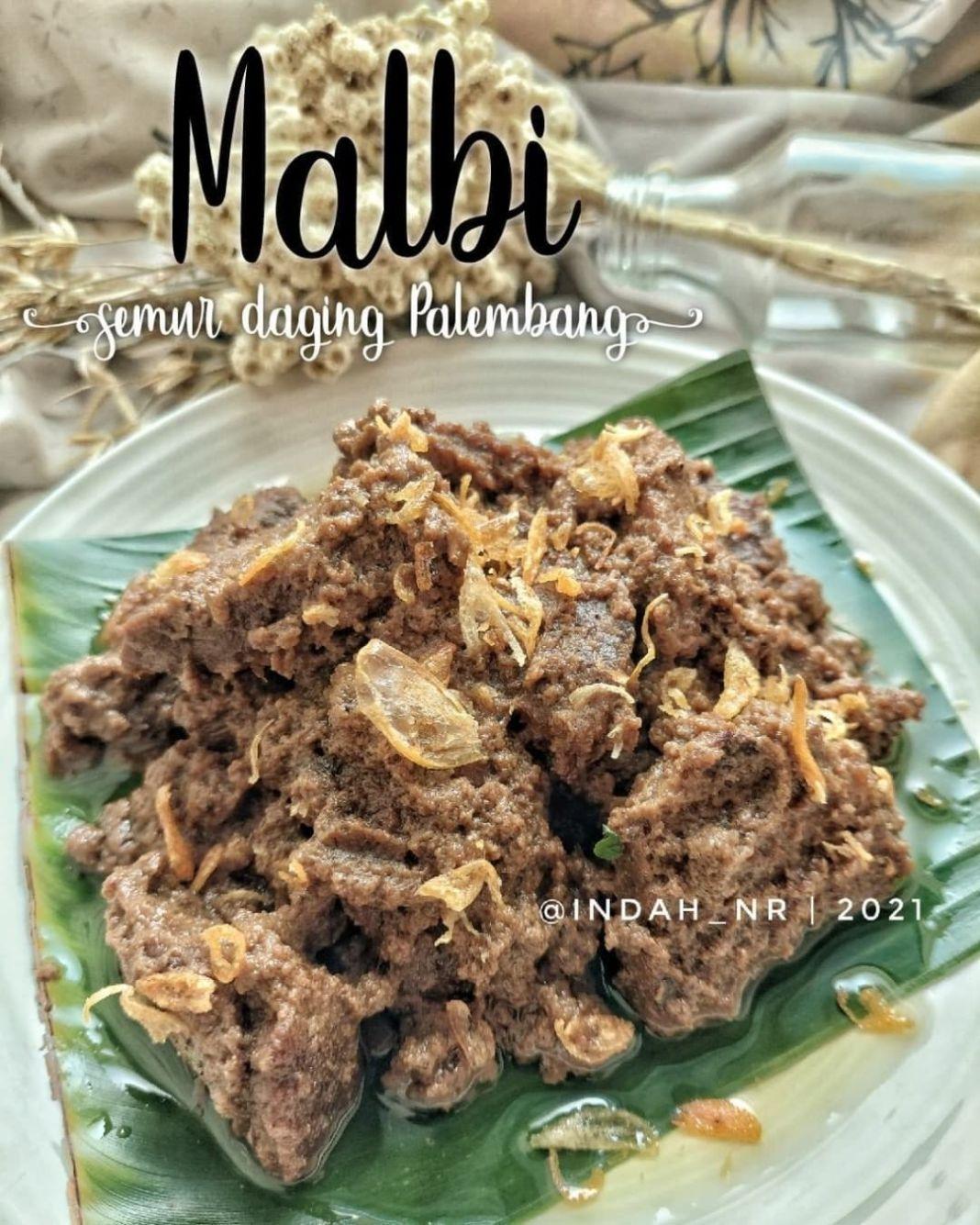 Info kuliner, Malbi ini sejenis semur daging khas Palembang Sumatera Selatan. Bumbunya berlimpah rempah makan…