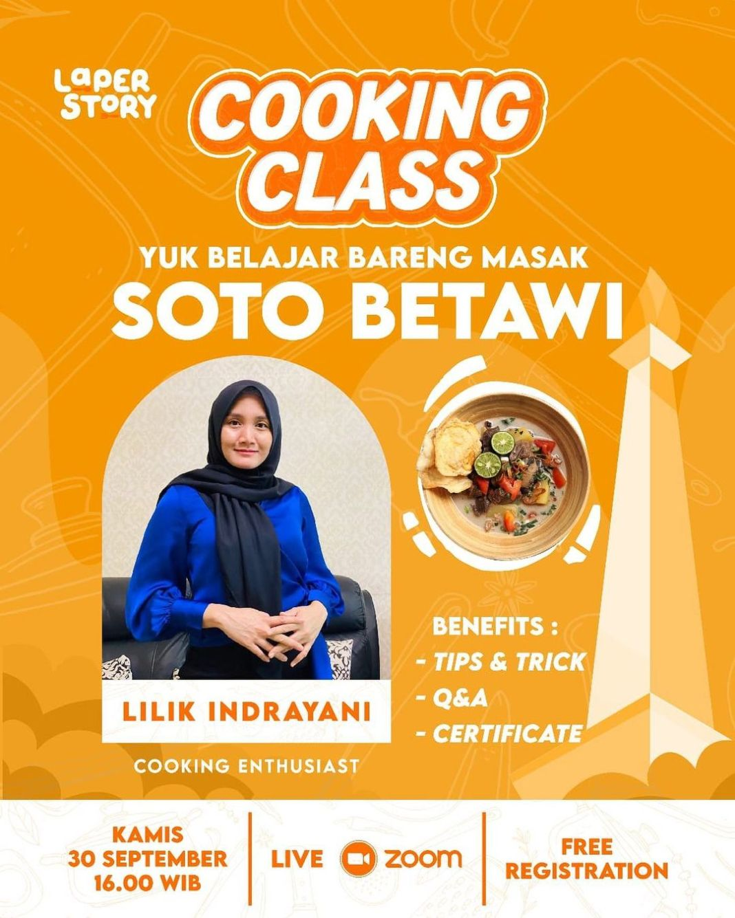 Info kuliner, Cooking Class by Laper Story is coming again!   Hi Mom's! Cooking Class #5 by Laper Story kemba…
